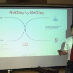 JT Tran lecturing on dating coaching