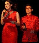 Guest Writer Jocelyn in qipao with her husband