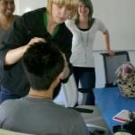 Sarah Ann Fixes a Student's Asian Hair